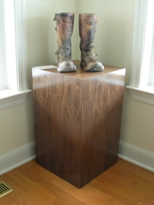 Real Walnut Veneer Pedestal
