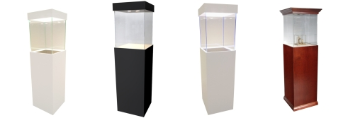 Down Light Showcase Pedestals